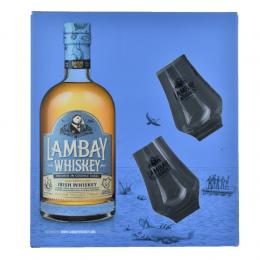 Coffret Lambay Irish Whiskey + 2 verres